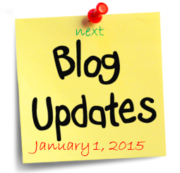 Next Blog Update January 1, 2015