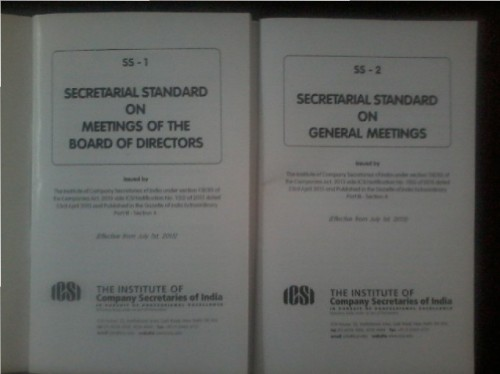Booklet Copy of Secretarial Standard