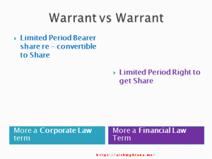 Warrant vs Warrant