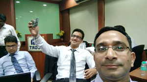 Selfie in Selfie - Aishwarya M Gahrana capturing selfie skill of Divesh Goyal